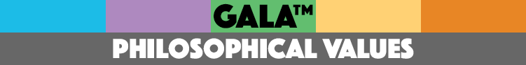 GALA philosophical values page banner